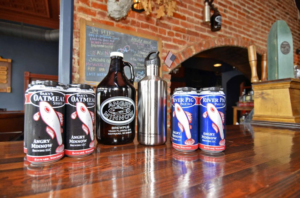 Angry Minnow Beers, Brewed on Premises